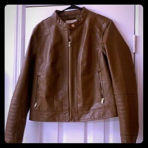 And new day camel pleather coat